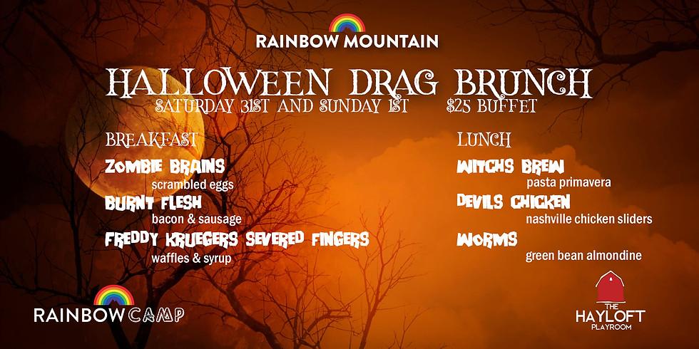 Drag Brunch Menu Halloween Weekend