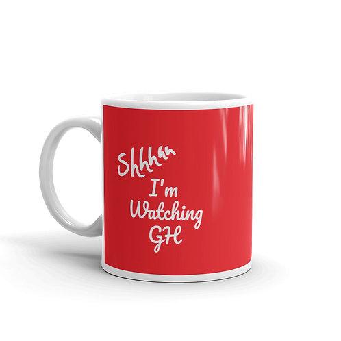 Shh I'm Watching GH Mug -- Red