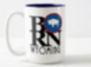 BORN Wyoming Coffee Mug homebornlovewyoming