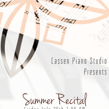 Summer Studio Recital 2019