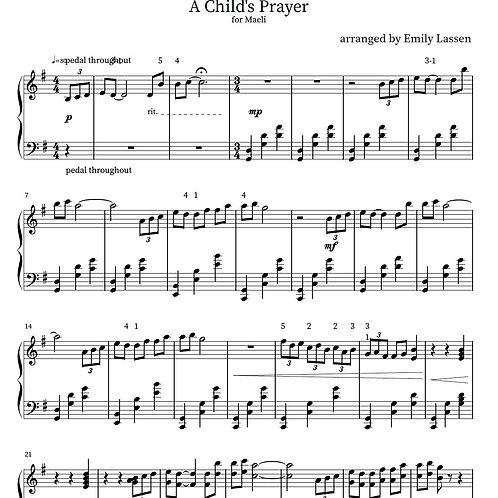 A Child's Prayer