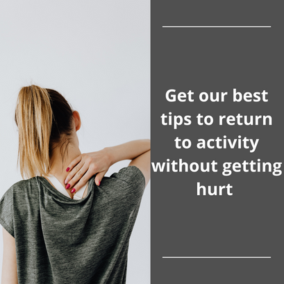 Are you sore after returning to your summer activities?