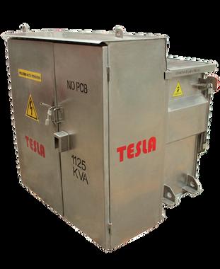 Transformador Trifásico Tipo Pedestal Radial 112,5 kVA Serie 15/1,2 kV (acero inoxidable para ambiente salino)