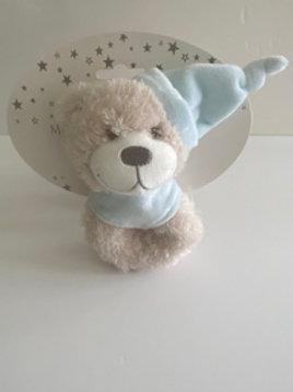 Blue Teddy Rattle