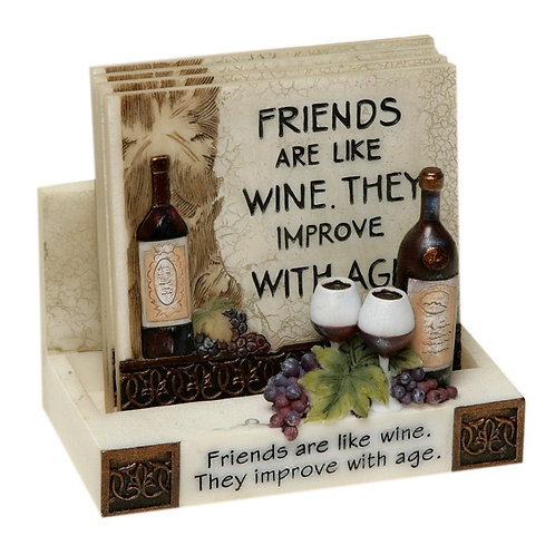 Friends Coaster Set of 4 with Holder