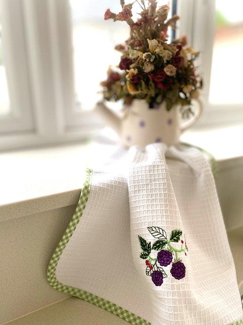 Blackberry Tea Towel