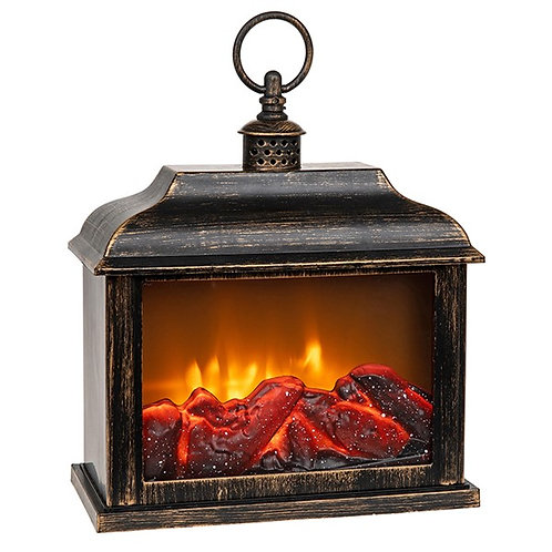 Eternal Fire Lantern Black & Gold Large