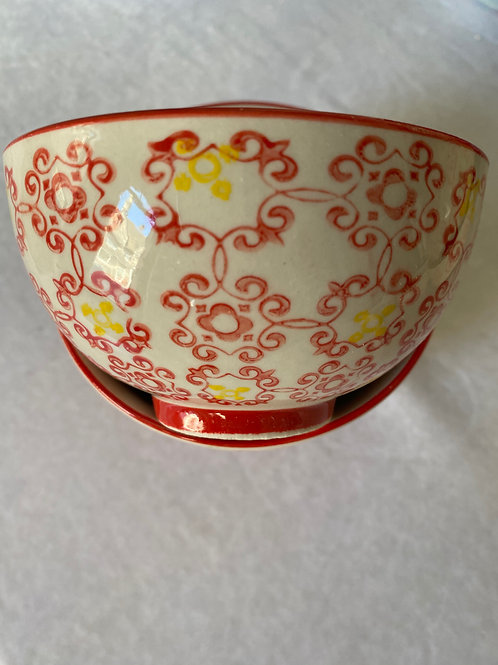 Red Lace Side Bowl