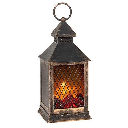 Eternal Fire Lantern Black & Gold Small