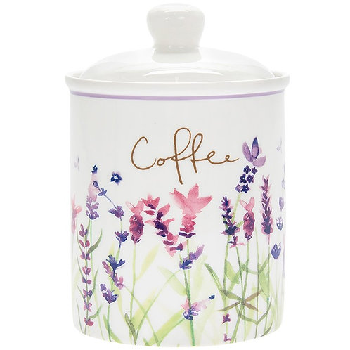 Purple Lavender Coffee Cannister