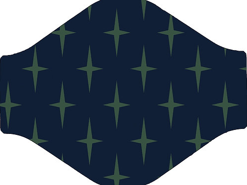 Navy Star Face Mask