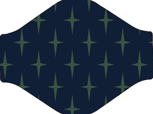 Navy Star Face Mask