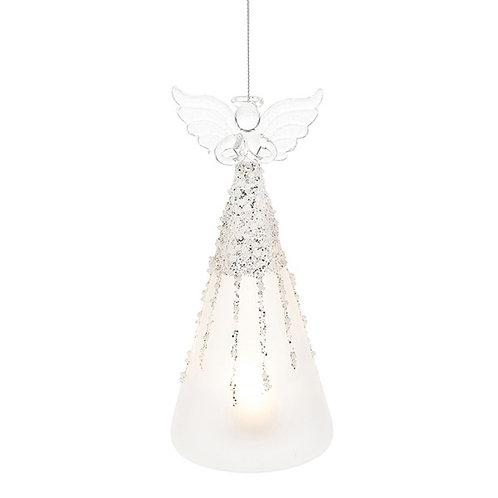 Glass Art LED Icicle Angel Large