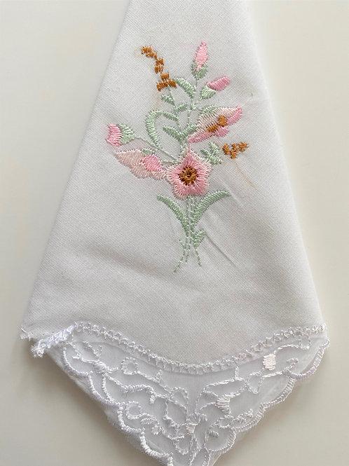 Pink Rose Handkerchief