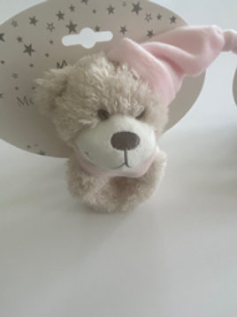 Pink Teddy Rattle