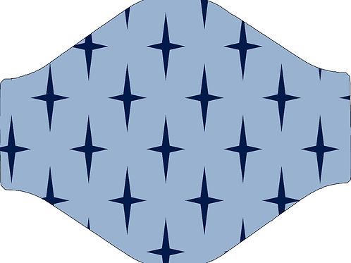 Blue Star Face Mask