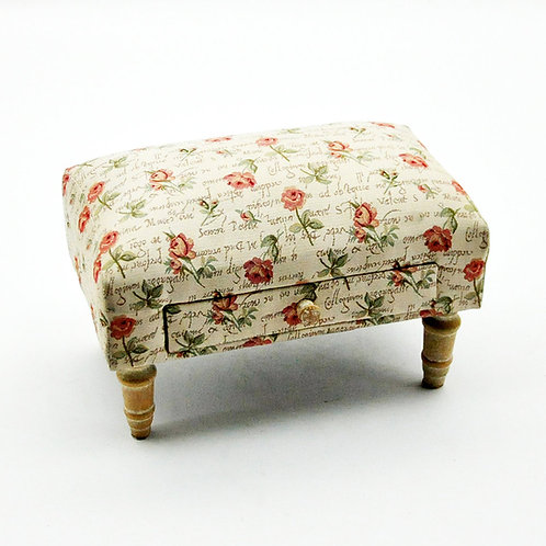 Rose Footstool with Drawer