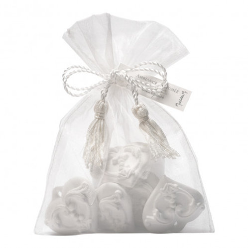 Marquise Organza bag 8 scented arabesque hearts