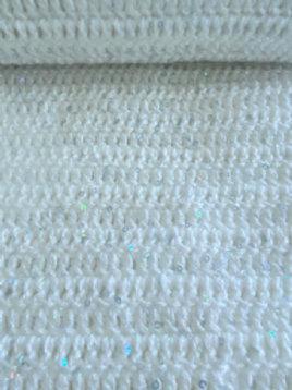 White Sparkle Hand Crochet Blanket