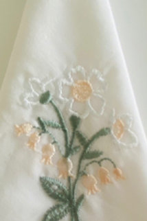 Yellow Flower Embroidered Hankie