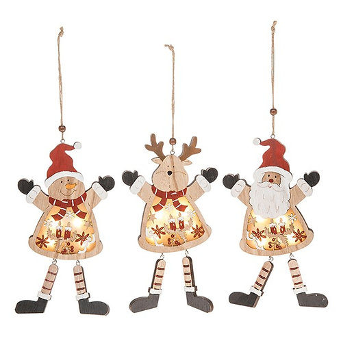 Festive Craft LED Santa, Snowman or Reindeer