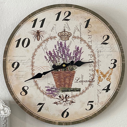Lavender Pot Clock