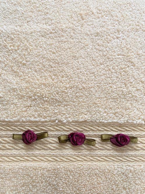 Dark Beige Roses Towel