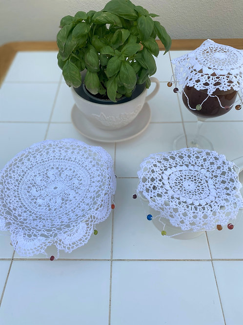 Beaded Lace Glass Covers