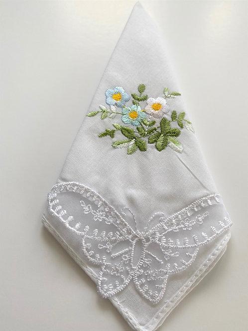 Butterfly Lace Handkerchief