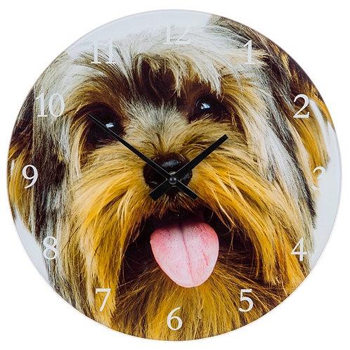 "Glass ""Yorkie"" Clock"