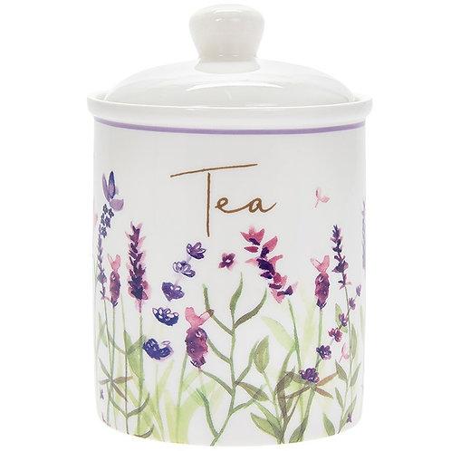 Purple Lavender Tea Cannister