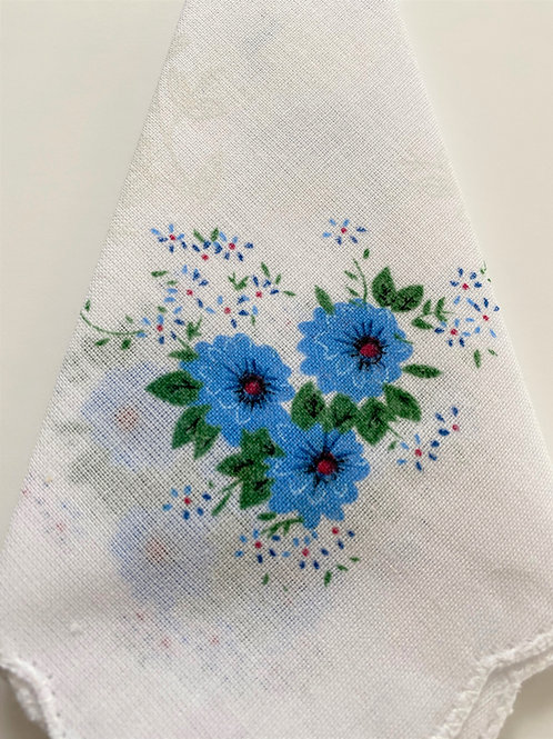 Blue Flower Handkerchief