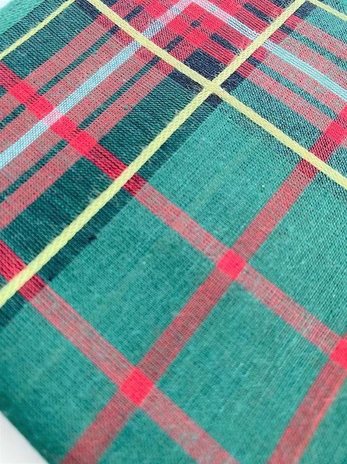 Green Tartan Handkerchief For Men