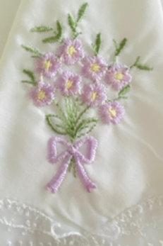 Violet Embroidered Hankie