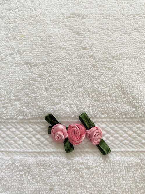Pink Roses Cluster Towel