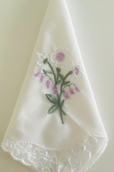 Lilac Flower Embroidery Hankie