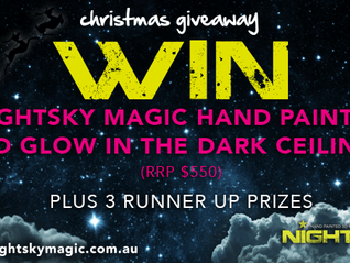 WIN a NightskyMagic Deluxe Mural Hand Painting Ceiling >> Christmas Giveaway
