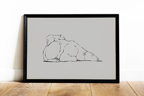 Deluxe Mother Bear Print - A4
