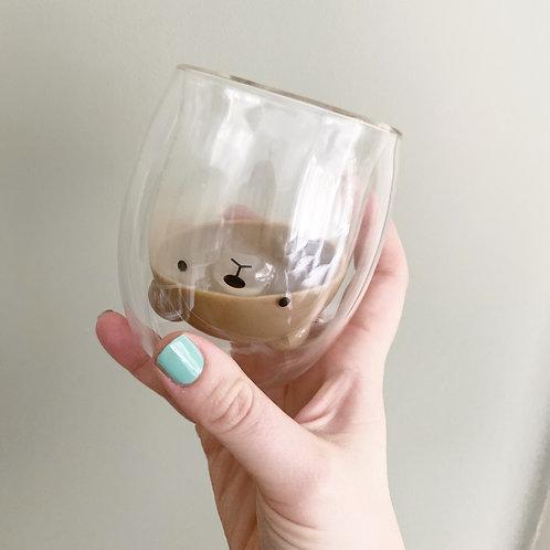 Mama Bear Coffee Glass