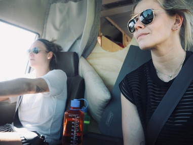 Us two road tripping!
