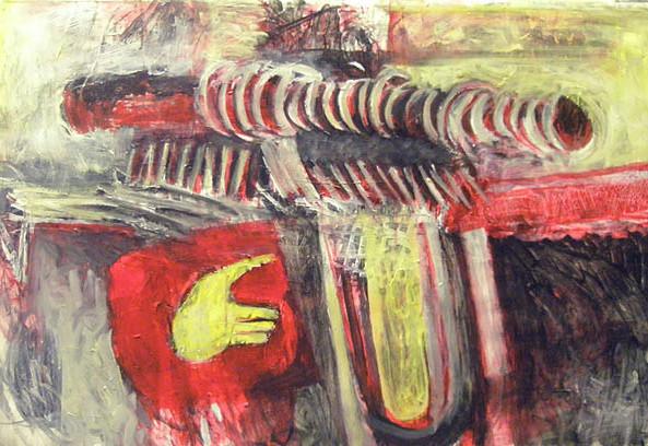 Renata Fernandez.Yellow Gun, Yellow Hand