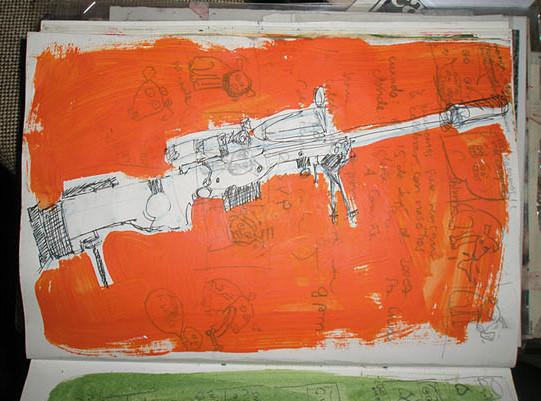 Renata Fernandez. Gun