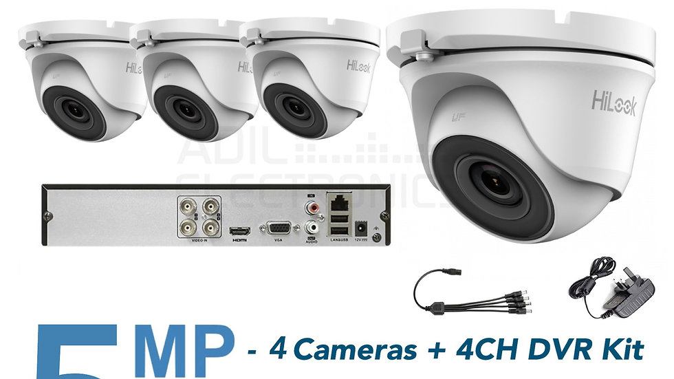 Hikvision hilook 4CH 4x5MP with 1TB Hard Drive