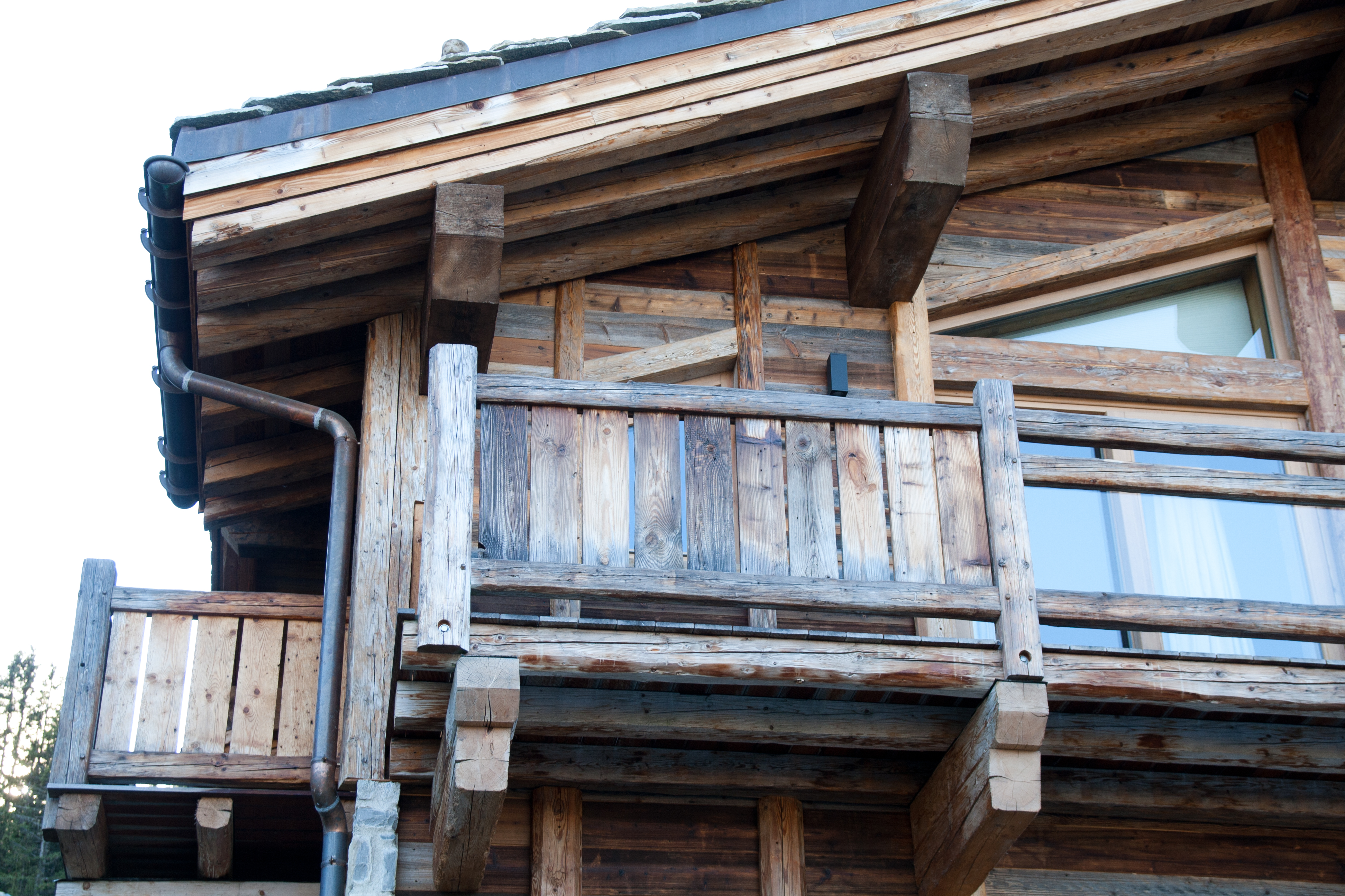 chalet with reclaimed timber
