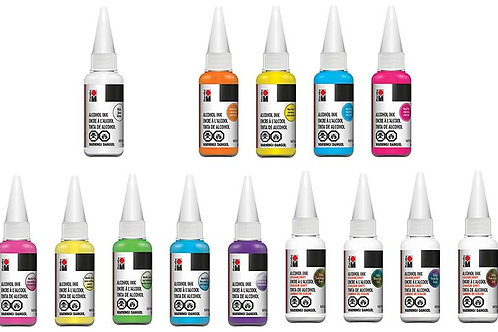 Marabu Alcohol Ink, Set of 14, 20ml