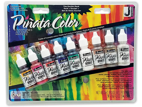 Jacquard® Piñata Overtones Exciter Pack Alcohol Ink, Pack of 9