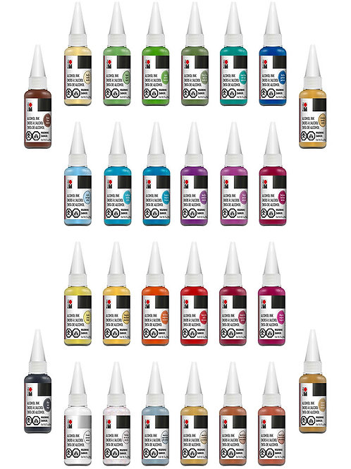 Marabu Alcohol Ink, Set of 28