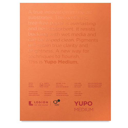 Legion Yupo® Polypropylene Watercolour Paper Pad, 200GSM