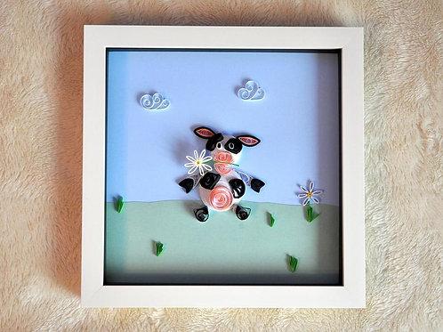 Framed Design - Daisy Cow