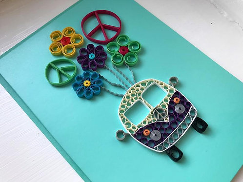 Hippie Campervan Greeting Card